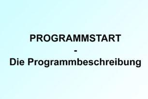 Programmstart V: die Programmbeschreibung